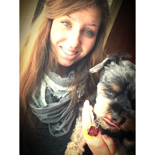 One's definition of beautiful can vary greatly from another's Puppy Teen Girl Quote Selfie Yorkiepoo Love Him ♥ Diversity Animal Obsessed