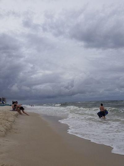 Sky Beach Cloud - Sky People Full Length Sand Outdoors Sky Wave 50th Birthday Celebration Vacation Family Fun