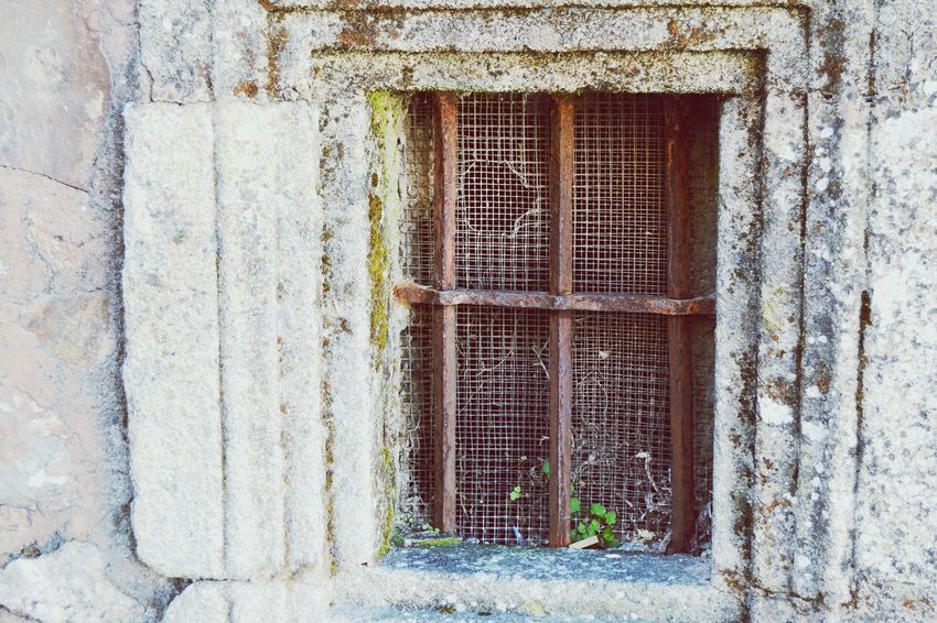 Window Decay Old Ruin Built Structure No People Architecture Building Exterior Abandoned Bad Condition Outdoors Close-up Day Beauty Of Decay Wire Mesh Fence