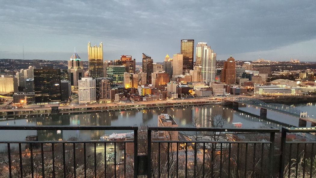 Took a wrong turn and ended up on Mt. Washington at sundown so I pulled over and took some pics. Cityscape City Urban Skyline Travel Destinations Pittsburgh Pittsburgh Pennsylvania Mount Washington