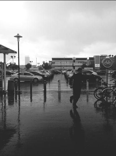 Blackandwhite Rainy Days Reflection