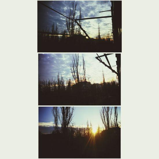 небо⛅️ закат🌇 вид из окна