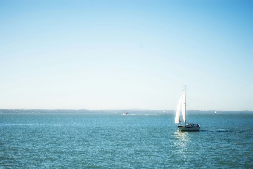 Southsea Boat Sailing Boat Sea And Sky Sea View Nikon