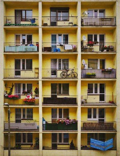 Paint The Town Yellow Architecture Façade Yellow Urban Geometry Architecture_collection The Week On EyeEm Balcony