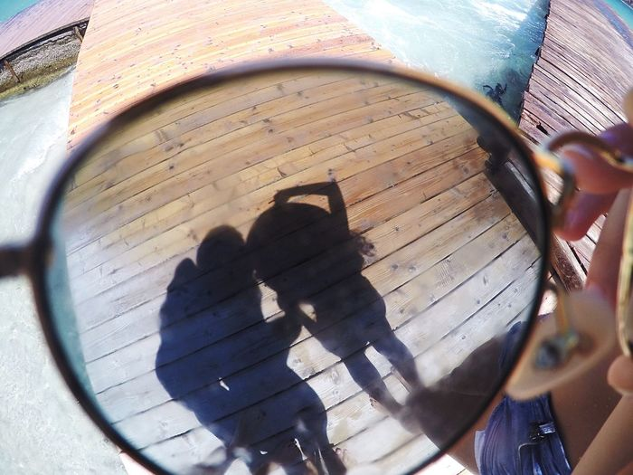Shadow Outdoors Person Girls Day Beach Glasses Reflections