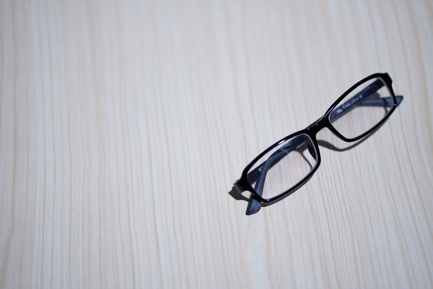 Spectical Over Wooden Background Close-up Day Indoors  No People Specticals
