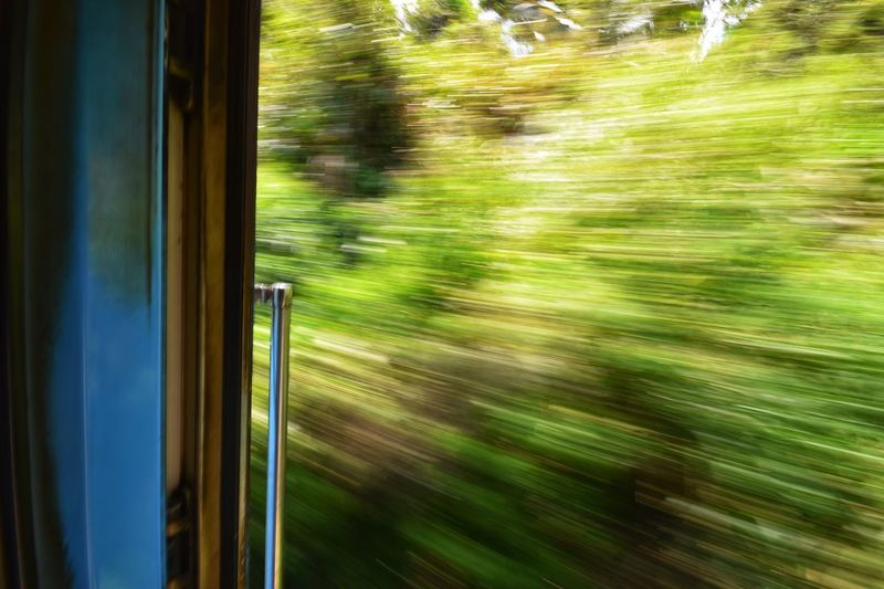 Blurred Motion Motion Train Rail Transportation Train - Vehicle Mode Of Transportation Window