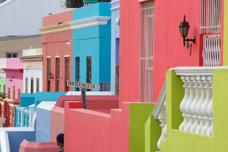 Building Exterior Architecture Built Structure Outdoors Day No People Residential Building Colors Bo-kaap South Africa Cityscape Quarter  Capetown