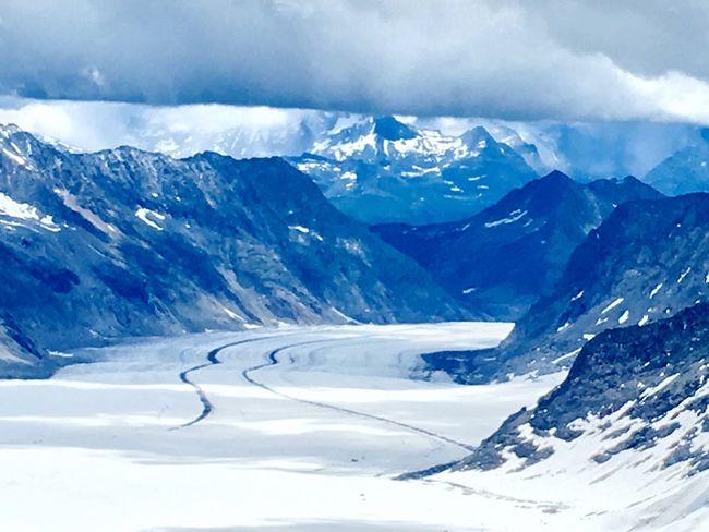 Aletschgletscher (Aketsch Glacier) seen from Jungfrau Sphinx Observatory, Switzerland Glacier Snow Mountain Winter Beauty In Nature Cold Temperature Cold Jungfrau Aketsch Switzerland Alps First Eyeem Photo EyeEmNewHere