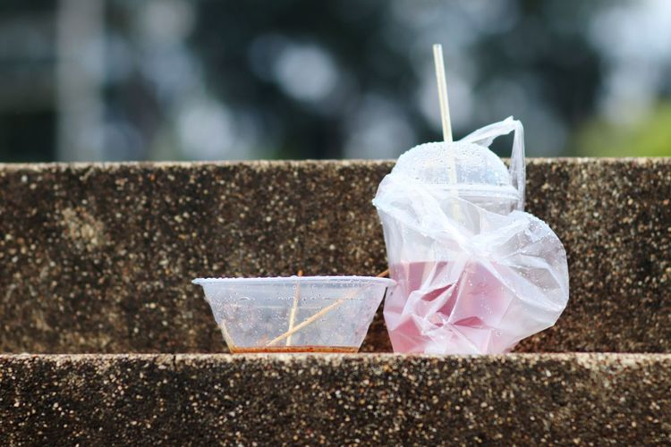 Left in the park Rubbish Rubbish Waste Rubbish Dump Near Beach Park Debris EyeEm Selects Drinking Straw Close-up