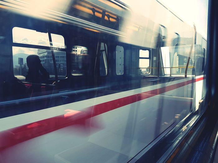 Train - Vehicle Window Transportation Railway Railroad Track Car Moving Catching Blink