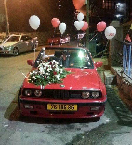 By Me My Photography My Photo Photography Photo Taking Photo Taking By Me Red Bmw Bmw Car Bmw Red Flowers Red Roses Red Flowers Roses Widding Decorated Car Nightphotography Night Balloons