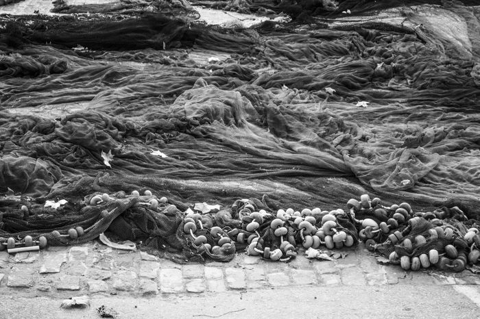 Autumn B&W Collection Drying Fishing Flat Floats Nets Textures