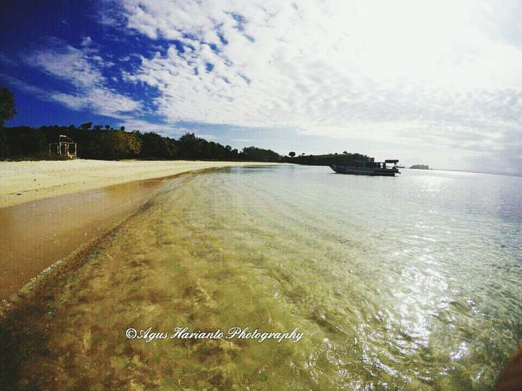 We are on the way to you Sea Sky Outdoors Beach Nautical Vessel No People Cloud - Sky Water Tree Beauty In Nature Day Nature Pinkbeachlombok Thedorsaleffect