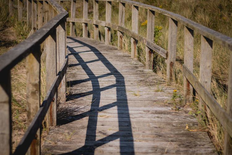 Day Nature No People Outdoors Railing Shadow Sunlight Wood - Material