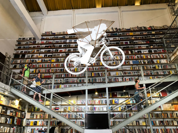 Architecture Bicycle Bookshelf Built Structure Day Indoors  Lx Factory No People Shelf Transportation