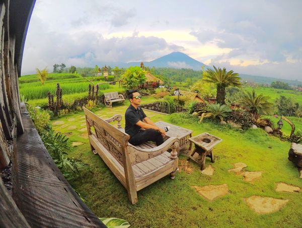 Jatiluwih, Bali Bali Boy Green Goodview Jatiluwih Rice Terrace Mountain Tree Field Agriculture Sky Grass Landscape Cloud - Sky Plant Rice Paddy