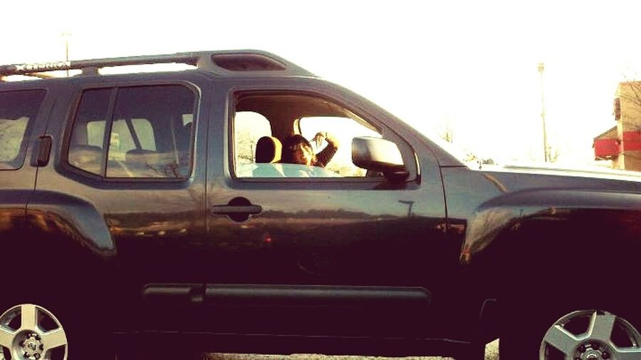 Couple years back..throwing up the dueces! Throwing Up Gang Signs LOL! Pimpin' Bad B•tch Wassup Xterra