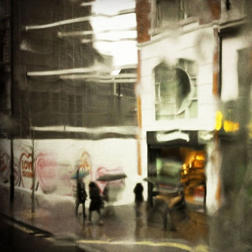 Oxford Street in the sleet London Oxford St Weather Sleet Top Deck Anonymous Scurry