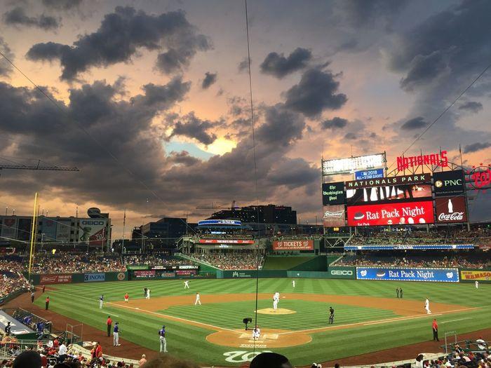 Stadium Baseball - Sport Sky Cloud - Sky Natspark Nationals Storm Cloud