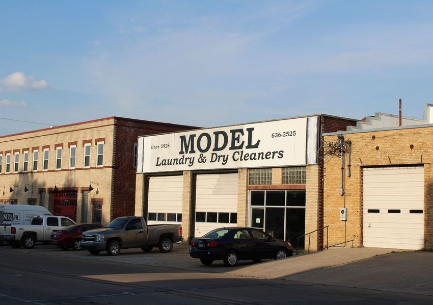 Model Laundry & Dry Cleaners. Since 1928. Rogers, Arkansas. Architecture Built Structure Building Exterior Store Old-fashioned Historical Place Outdoors Blue Sky Clouds Sunlight ☀ Sunshine Springtime Spring Day