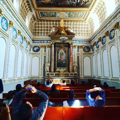 Travel Destinations Indoors  Tourism Men Religion Place Of Worship Real People People Architecture Adults Only Day Fresco Adult Mexico City Palacio De Minería
