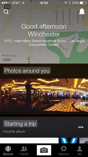 Checking In Las Vegas Holiday Hello World
