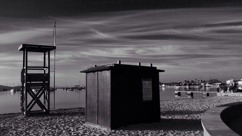 Puerto Pollenca Clouds And Sky Beach Monochrome Black And White Lightandshadow Blackandwhite Seascape
