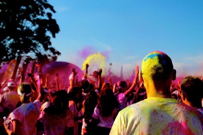 Color Cultures EyeEm Best Shots EyeEm Gallery EyeEmNewHere Men Multi Colored Outdoors Photography Powder Paint Sky Traditional Festival