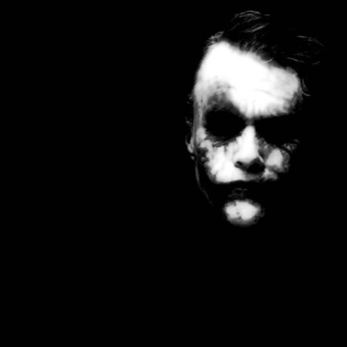 The Joker, by Heath. Joker Thejoker Heathledger Amazingactor Awesome Bestacting Act Actor Batman Thedarkknight Blackandwhite Makeup Instafollow Instafollowback Instadaily Photooftheday Picoftheday Instagood Iphonesia