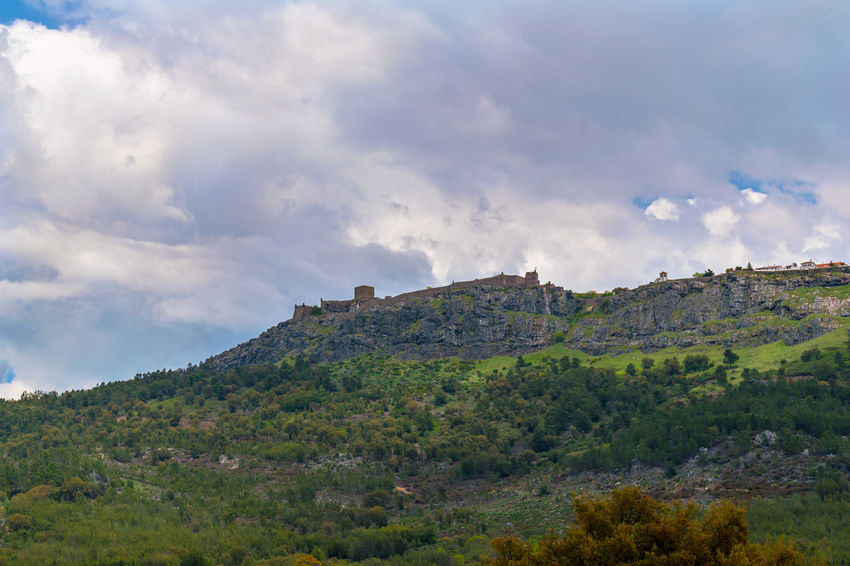 Castelo de Marvão Architecture Beauty In Nature Cloud - Sky Day Environment Green Color Growth Land Landscape Mountain Nature No People Non-urban Scene Outdoors Plant Scenics - Nature Sky Tranquil Scene Tranquility Tree