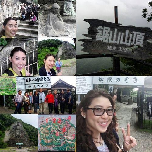 Before&After climbing to Nihonji Daibutsu 千叶 日本寺 大佛...Yeah!!! That's great ^^