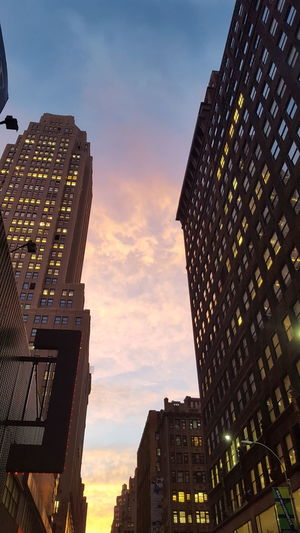 New York City Sunset Clouds And Sky Fall Sunset💥 Between Buildings Sky