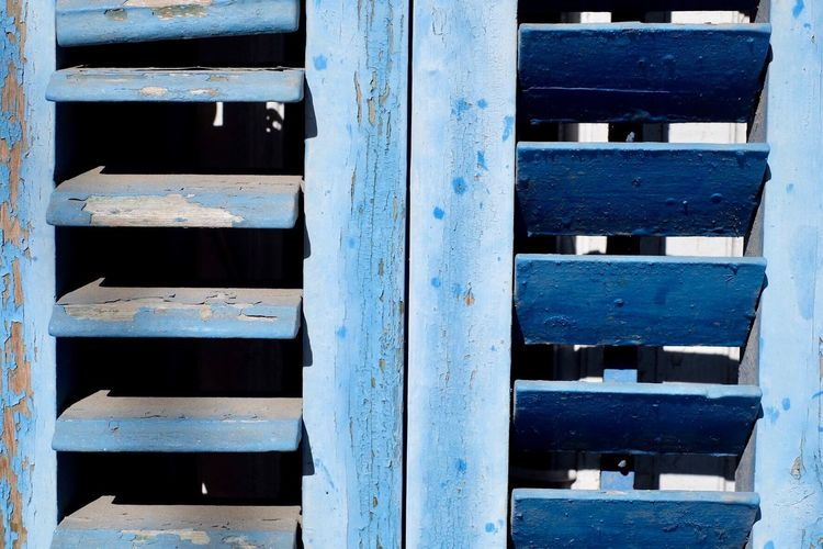 Wood - Material Full Frame Pattern No People Day Backgrounds Blue Close-up Outdoors Shutter Shutters Window España SPAIN Sitges