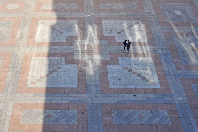 Lost EyeEmNewHere Square City Flooring Full Length High Angle View Men Outdoors Paving Stone People Piazza Real People Street Streetphotography Walking