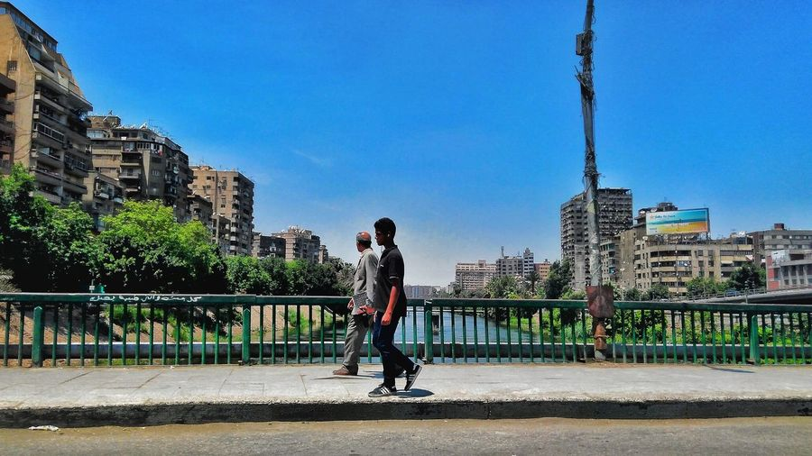 One Man Only One Person City Full Length Adult Sky City Life People Adults Only Outdoors Day Only Men One Young Man Only Men Clear Sky Tree Young Adult Architecture Nature Streetphotography Cairo Egypt Scenics Road Tranquility Egyptphotography