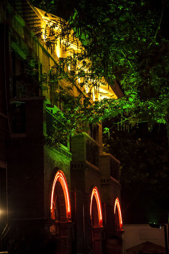 Night View HUAWEI Photo Award: After Dark Arch Architecture Building Building Exterior Built Structure City Illuminated Lighting Equipment Nature Night Night View No People Outdoors Plant Tree