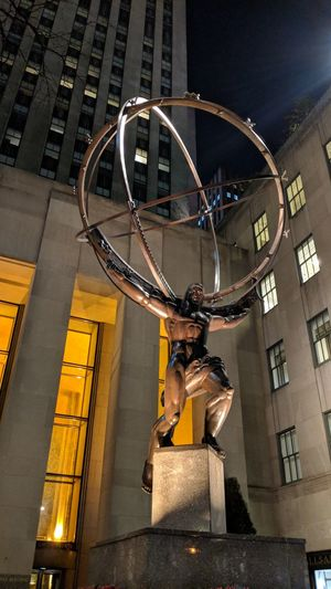 Atlas Sculpture in New York Atlas Nightphotography Night Photography Statue Travel Travel Photography Good Times Followme Pixelxl2 New York New York City