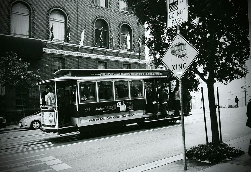 Trolley Crossing Trolley San Francisco Trolleys Streets Of San Francisco San Francisco, California Trolley Car
