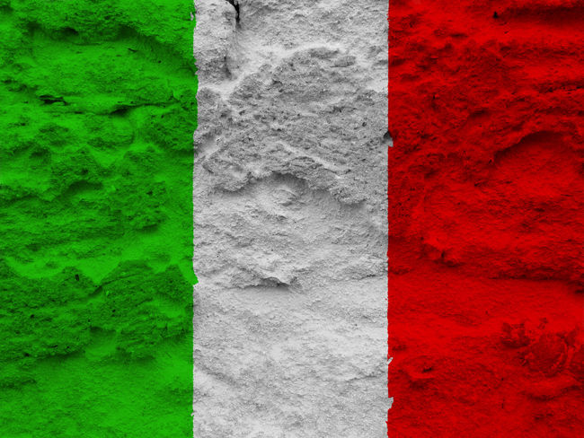 Italian flag Close-up Day Green Color Italy Italy Flag Nation Nature No People Outdoors Red Rome Rome Italy State Textured  Tree Trunk