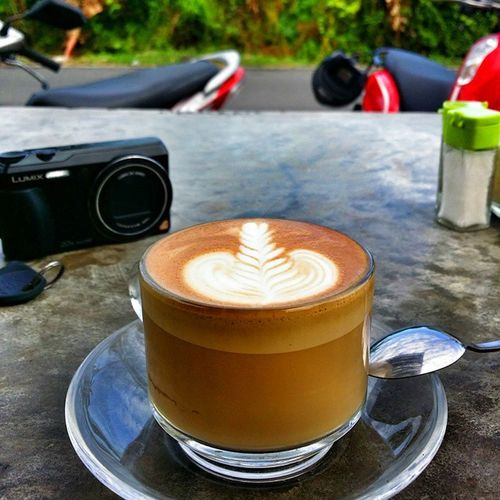 Cratecoffe Nogirls Justcoffee Love coffee bali canggo bfast chillin traveling instagood travelingram spoon lumix panasonic