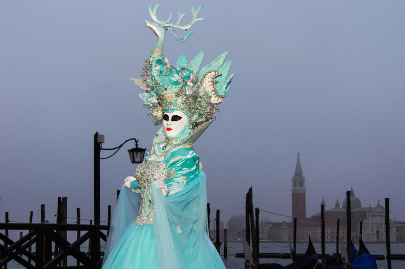 Carnival in Venice, Italy Carnevale a Venezia, Italia Canal Grande Carnival In Venice Adult Architecture Built Structure Clear Sky Costume Day Down One Person Outdoors People Sky Standing Travel Destinations Venetian Mask Young Adult The Street Photographer - 2018 EyeEm Awards The Portraitist - 2018 EyeEm Awards