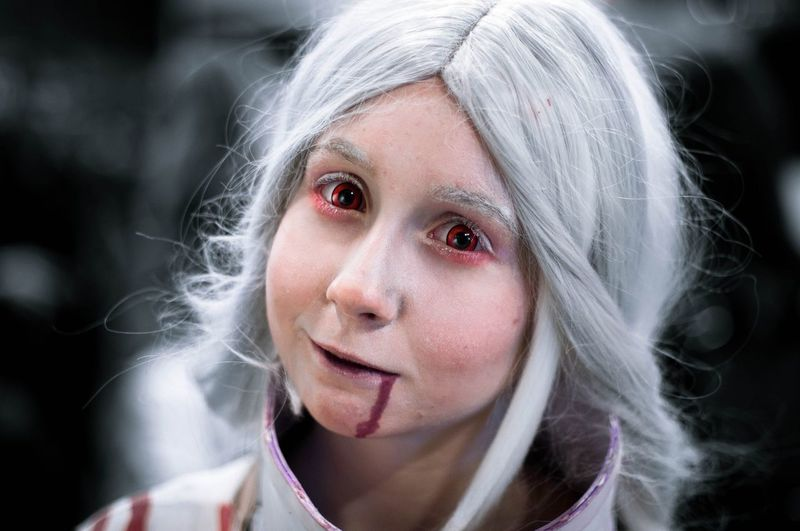 Starkon Spooky Horror Looking At Camera Stage Make-up Convention Arts Culture And Entertainment Fantasy Geek Cosplayer Dressing Up Halloween Make-up Celebration Cosplay Portrait One Person Anime Animecosplayer Blood The Portraitist - 2017 EyeEm Awards