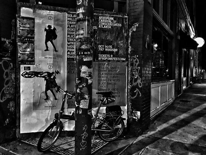 Bicycle Blackandwhite Urban Landscape