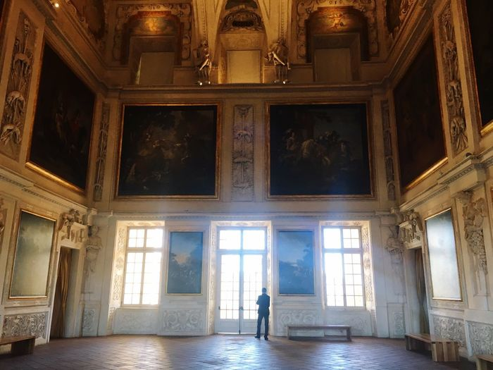 Immensità Italian Architecture Art Museum Artoftheday Artistic Photo Venaria Reale Venaria Arte Art Italy Torino Architecture Indoors  Built Structure Day One Person Real People Travel Destinations Creative Space
