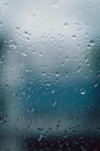Window Wet Drop Water Glass - Material Transparent Full Frame Backgrounds Rain Indoors  No People RainDrop Close-up Nature Rainy Season Sky Glass