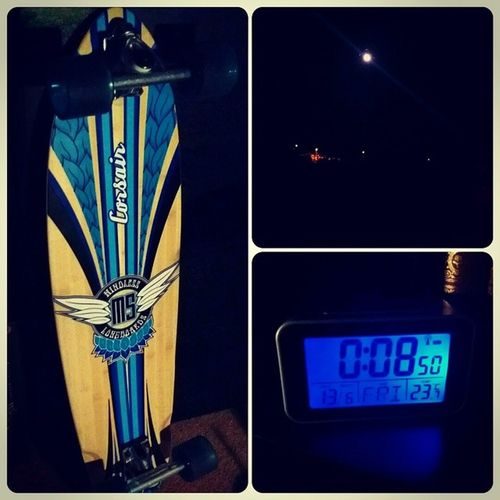 Tempting to take the longboard out for a spin while the Moon light is shining on another calm night. Midnight Moonlight Late Night early longboard mindless 12am