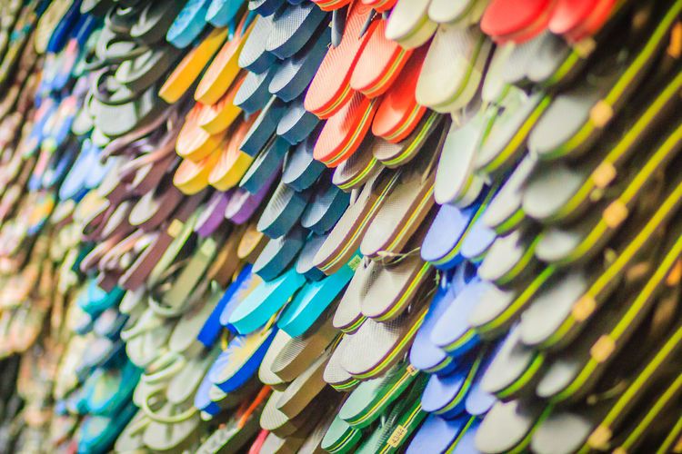 Colorful flip flop sandals in store at Khao San Road night market, Bangkok, Thailand. Khao San Rd Khao San Road KhaoSan Khaosan Rd. Khaosandroad Sandals Tourist Tourist Attraction  Tourists Abundance Arrangement Backgrounds Choice Close-up Creativity Day Full Frame Hanging In A Row Indoors  Khao San Khao San Knok Wua Khao San Rd. Khaosan Road Khaosanroad Large Group Of Objects Multi Colored Night Market Night Market In Thailand Night Market, No People Order Pattern Retail  Selective Focus Still Life Tourist Destination Variation