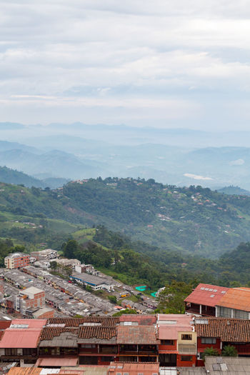 View of the area outside of Manizales, Colombia. Andes Architecture City Cityscape Coffee Colombia Downtown Latin Manizales Nevado South Tourist View America Andean Caldas Coffee Triangle Colombian  Destination House Landscape Mountain Outdoors Volcano Zone