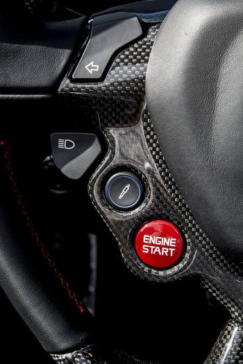 Close-up Convertible Car Ferrari California T HS Luxury Luxury Cars No People Start Button Steering Wheel
